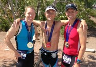 Me with Western New York triathletes Dave Hansen and Jon Bottoms