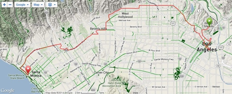 LA Marathon Map