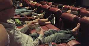 Relaxing at the movies, the perfect down time activity!